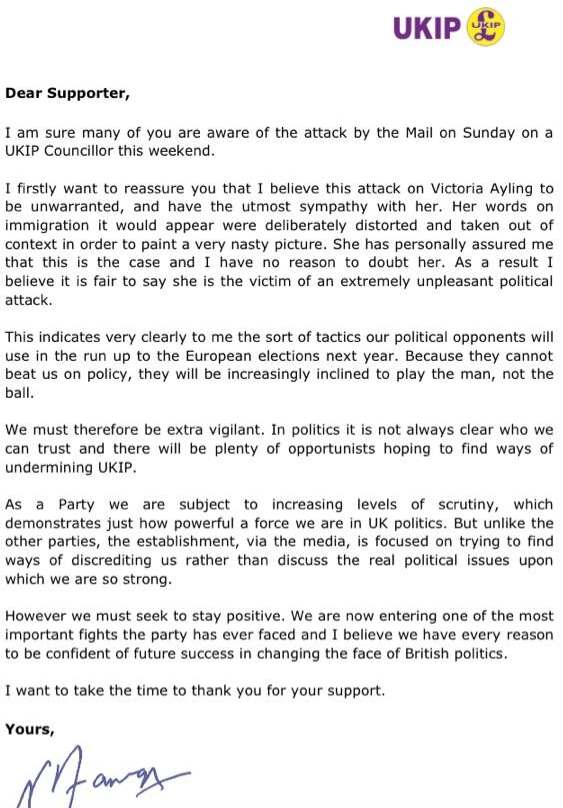 AYLING, Victoria 02 FARAGE LETTER re!