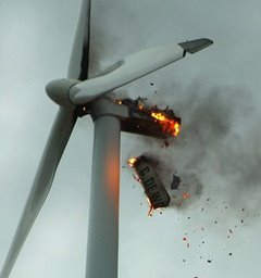 WIND TURBINE 03 BURNING