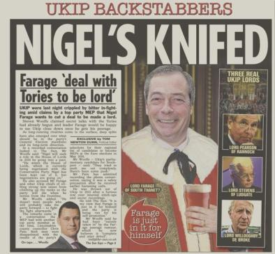 FARAGE, Nigel  113 Hol THE SUN 22-Jan-2015
