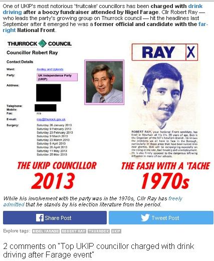 RAY, Robert Ukip Cllr ex NF 01