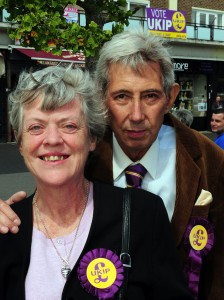 RAY, Robert Ukip Cllr ex NF 03 with wife Maggie