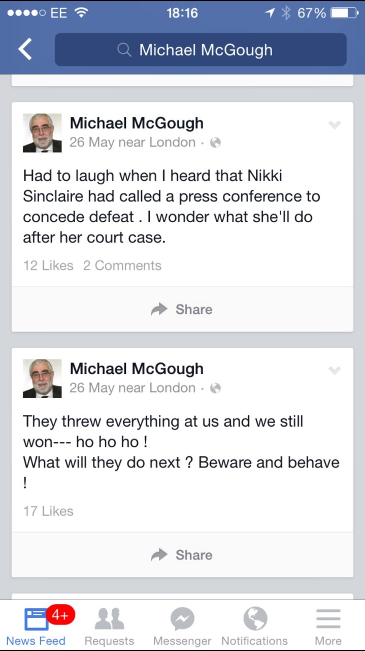 McGOUGH, Michael 17 TWEET re Nikki S